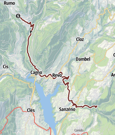Cartina / Cammino Jacopeo d'Anaunia - III tappa finale versione breve