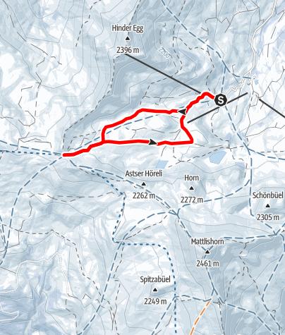 Map / Markierter Trail Arflina-Furgga