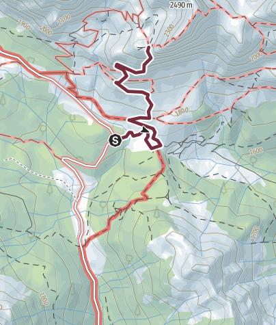 Map / 33 THE WAR ROUTE OF THE COSTONE EYNARD - Sappada