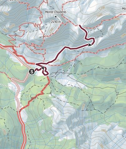 Map / 35 CACCIATORI pass from the upper val Sesis - Sappada