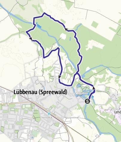 Karte Spreewald Lubbenau.Barzlintour Rund Um Lubbenau Kanu Outdooractive Com