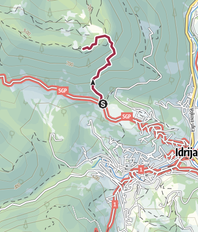 Hartă / Kobalove planine (strma pot)
