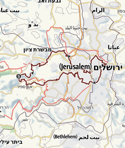 Karte / Jerusalem Trail