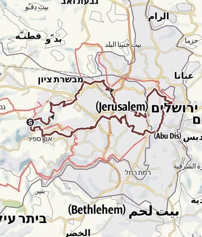 Jerusalem Karte Deutsch.Jerusalem Trail Pilgerweg Outdooractive Com