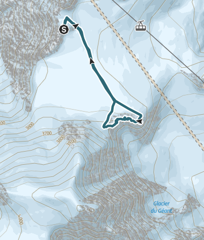 Map / Lachenal -  crossing of the 3 summits