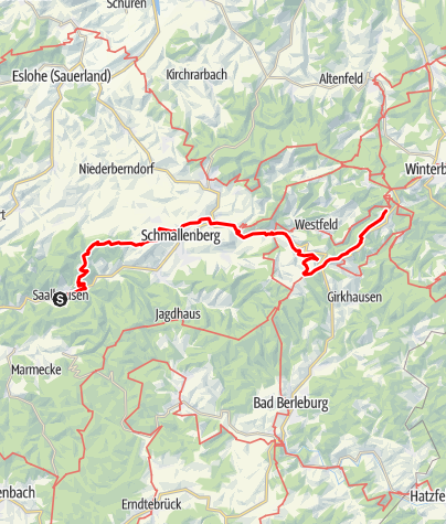 Karte / Schlemmertour der Sauerländer Wandergasthöfe - 2-tägige Streckenwanderung