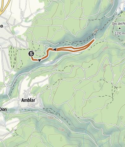 """Cartina / Il canto del Linor - Sentiero Azzurro Nordic Walking Park """"Alta Val di Non"""" Cavareno"""