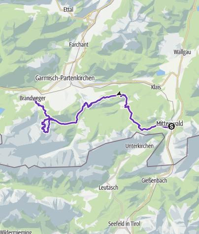 Karte / SALOMON ZUGSPITZ ULTRATRAIL 2017 powered by LEDLENSER - Strecke: Basetrail XL