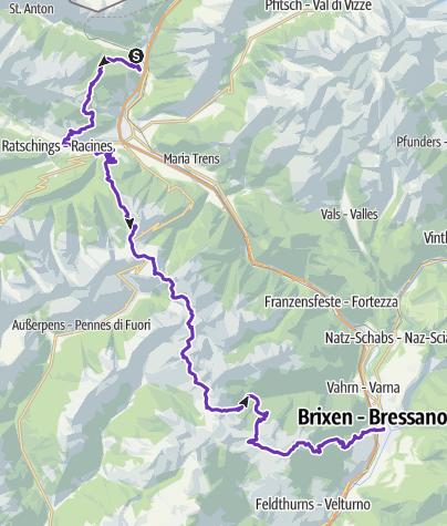 Map / SALOMON ALPEN X 100 - 70 km