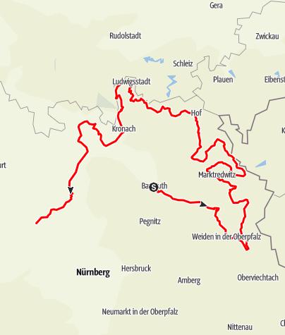 Map / Porzellanstraße - Abschnitt Deutschland