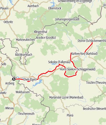Map / Porzellanstraße - Abschnitt Tschechien