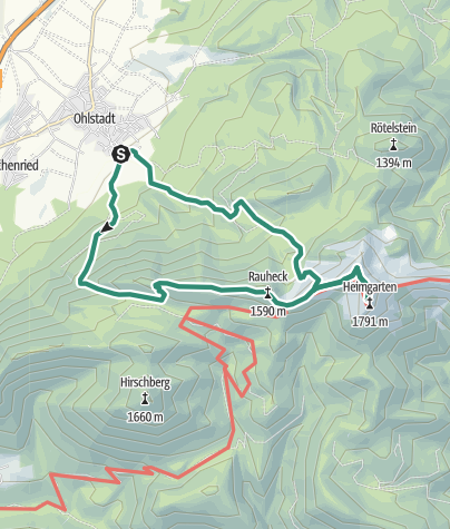 Map / Mountain tour - Heimgarten tour