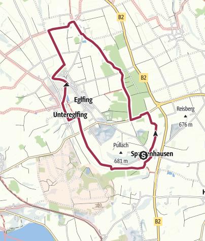 地图 / Wanderung - Hungerbach-Rundweg