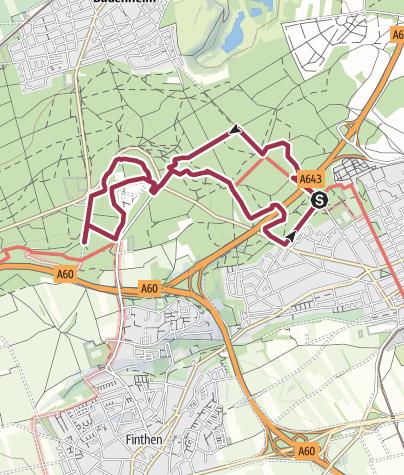 Karte / Lebensader Oberrhein: Lennebergwald