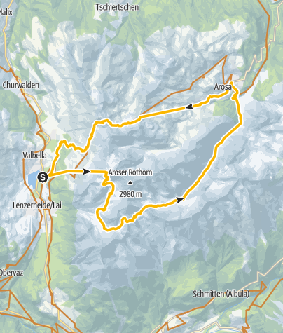 Map / GPS Furcletta/Welschtobel Tour