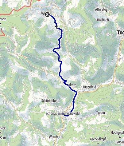 Karte / Über den Rollsbach nach Schönau (Themenpfad: Kirchweg)