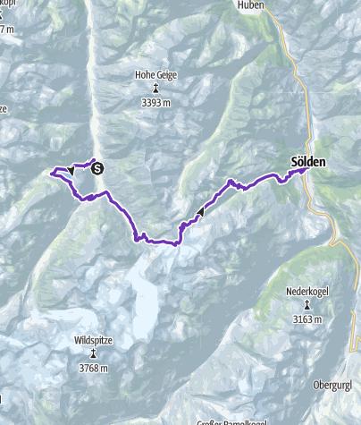 Karte / GORE-TEX® TRANSALPINE-RUN 2016 4. Etappe