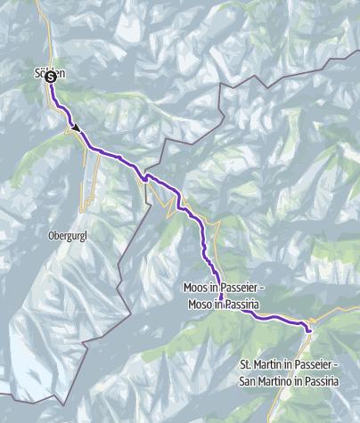 Karte / GORE-TEX® TRANSALPINE-RUN 2016 5. Etappe