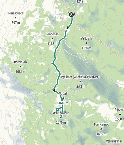 Map / Via Dinarica HR-W-10 Northern Velebit National Park (I) - Zavižan