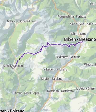 Karte / GORE-TEX® TRANSALPINE-RUN 2016 7. Etappe