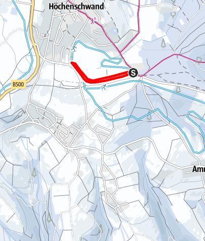 Map / Winter - Höchenschwand: Nacht-Loipe beim Höchenschwander Moor