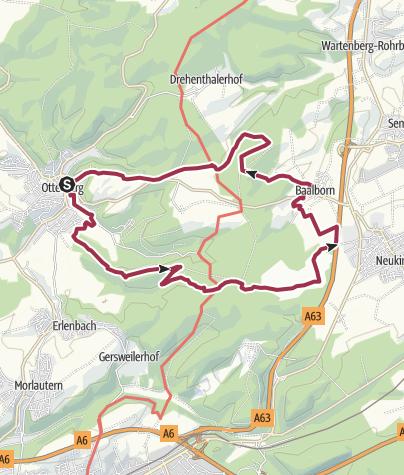 Karte / Otterberg - Über den Hinkelsteinweg in die Mehlinger Heide
