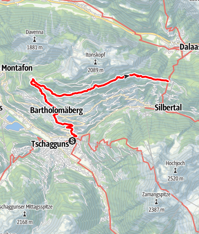 Karte / Montafoner Hüttenrunde - Schruns - Bartholomäberg - Kristberg