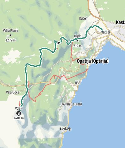 Mapa / Via Dinarica HR-B-03 Park prirode Učka