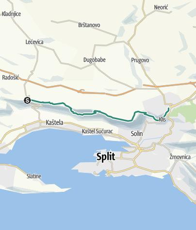 Map / Via Dinarica HR-B-15 Kozjak
