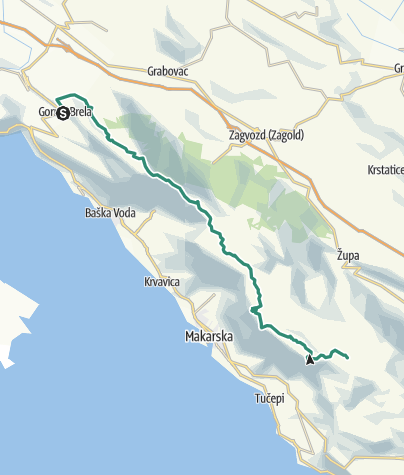 Map / Via Dinarica HR-B-18 Biokovo Nature Park