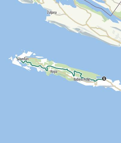 Map / Via Dinarica HR-B-21 Island of Mljet