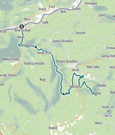 Mapa / Via Dinarica HR-G-01 Skradski kraj