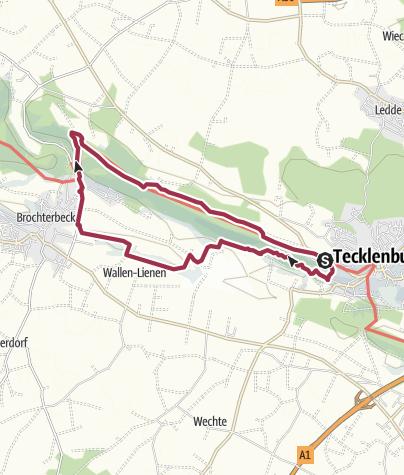 Karte / Teutoschleifen: Tecklenburger Bergpfad