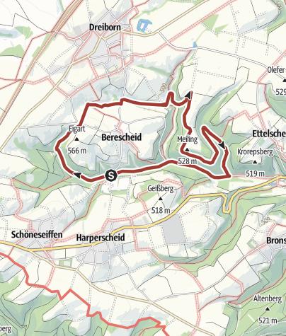 Karte / Nordeifel: Edelkrebspfad im Schafbachtal Schleiden