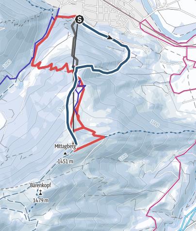 Karte / Pistentour am Mittag