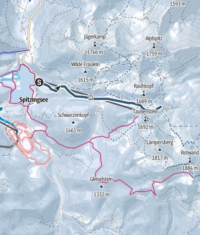 Karte / Pistentour am Taubenstein