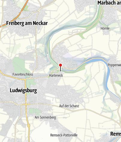 Karte / Jugendherberge Ludwigsburg