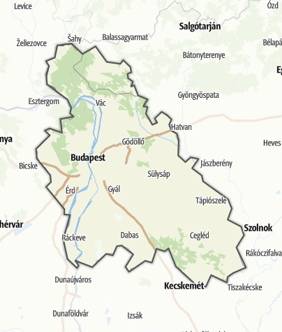 Map / Budapest and surroundings