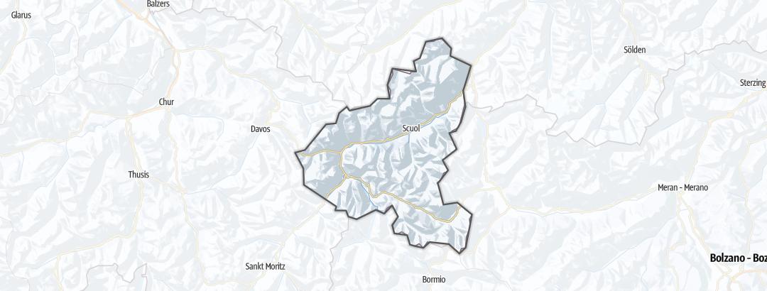 Karte / Wintertouren in Engadin Samnaun Val Müstair