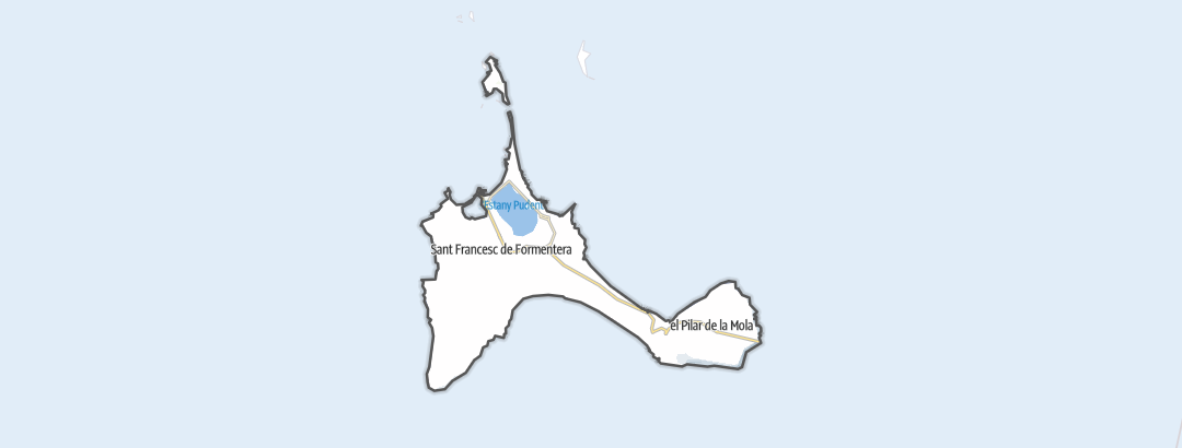 Kartta / Retkeily ja vaellus kohteessa Formentera