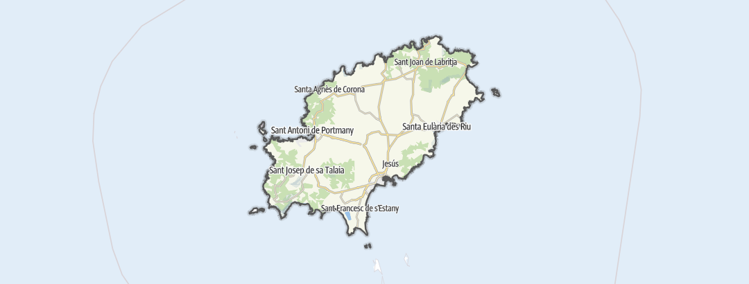 Kartta / Nähtävyydet ja käyntikohteet kohteessa Ibiza