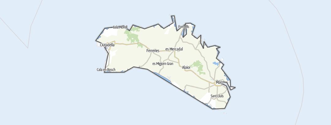地图 / 在Menorca里的徒步