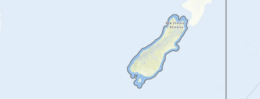 Carte / Circuits de randonnée - South Island