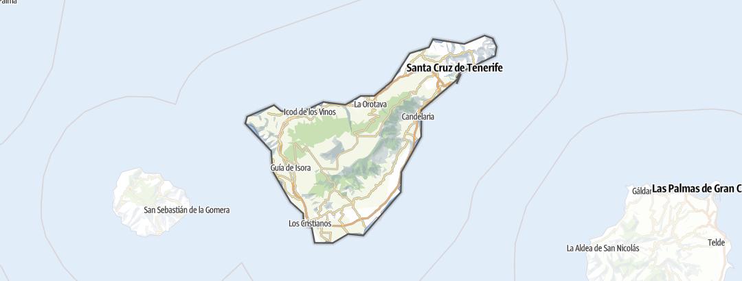 Térkép / Túrázás,  Tenerife területén