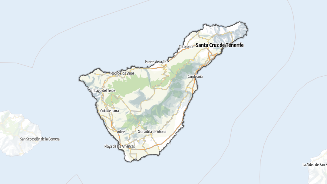 地图 / 特内里费岛