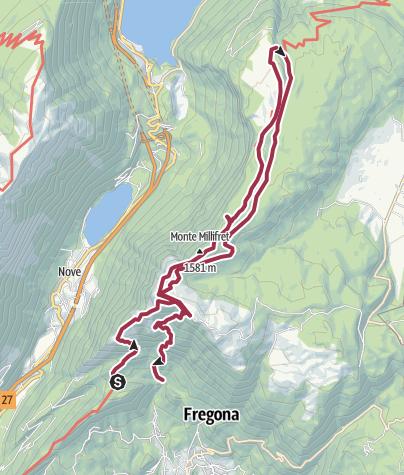 Mappa / Pizzoc, pian de la Pita