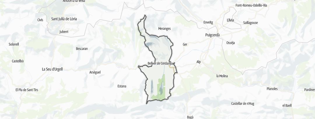 Карта / Походы в Bellver de Cerdanya