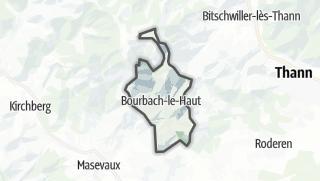 מפה / Bourbach-le-Haut