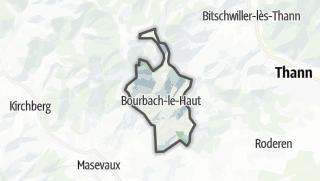Mapa / Bourbach-le-Haut