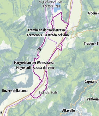 Map / Southern Wine Route, Wine & bike: Gewürztraminer and Pinot Noir